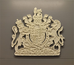 A picture of a court crest