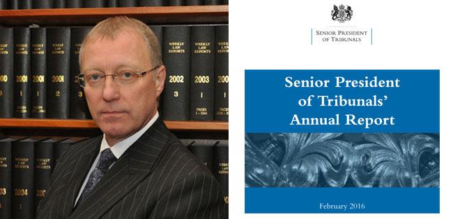 Senior President of Tribunals' Annual Report 2016