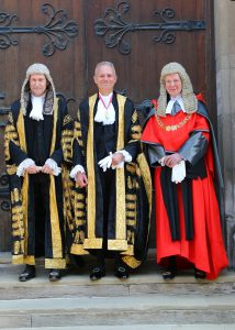 The Master of the Rolls Sir Terence Etherton, The Lord Chancellor The Rt Hon. David Lidington MP, The Lord Chief Justice The Rt Hon Lord Thomas of Cwmgiedd.