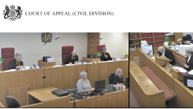 Cour tof Appeal live-streaming