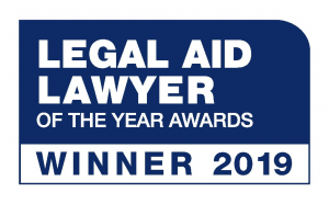 Photo of Legal Aid Lawyer of the year awards logo.