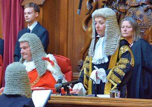 Photo of Dame Victoria Sharp being sworn in