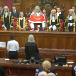 Sir Brian Leveson, at his valedictory ceremony