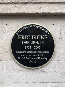 Photo of the plaque honoring Eric Irons
