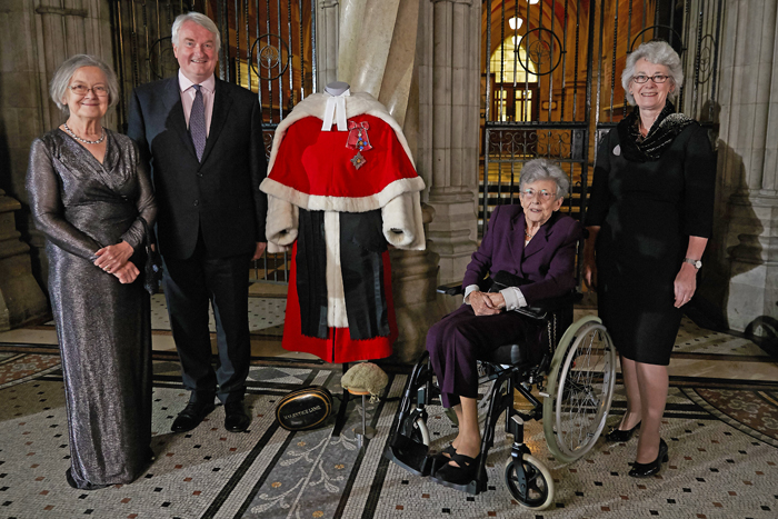 Photo is Lady Hale, the Lord Chief Justice, Lady Booth and Lady Black