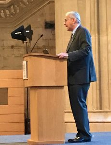 Photo of The Chancellor of the High Court, Sir Geoffrey Vos, at the Guildhall