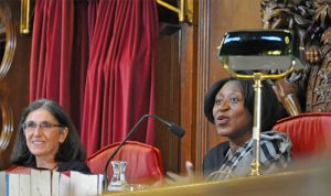 Photo of Lady Justice Simler and HHJ Barbara Mensah