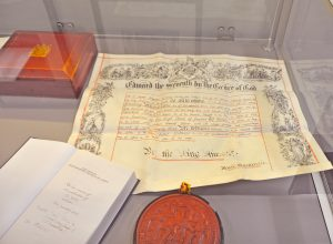 Commercial Court exhibition - document, book and seal