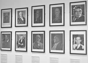 Commercial Court exhibition - judges' photos