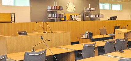 Picture of a courtroom