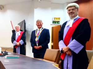 Two Swansea judges and the Mayor