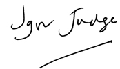 Signature of The Rt Hon The Lord Judge