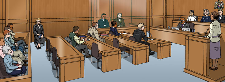 Drawing of a typical magistrates' court